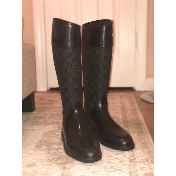 15529d086c18 Gucci Shoes - Gucci Rubber Winter Rain Boots -Size 40-